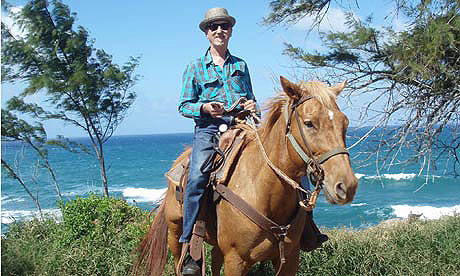 Hank in Hawaii searching for the Paniolo cowboys