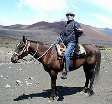Hank on horseback in Hawaii